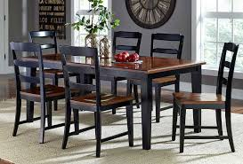 Black And Cherry Wood Dining Chairs Hillsdale Avalon 7 Pc Dining Set Black Cherry 5505dtbc7