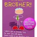 birthday card for a brother birthday cards festival around the