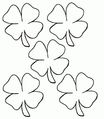 four leaf clover coloring page st patricks day leprechaun and