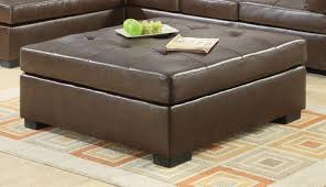 leather large storage ottoman coffee table u2014 railing stairs and