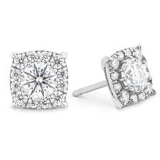 diamond stud earings hof custom halo diamond stud earrings