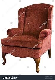 Velvet Wingback Chair Queen Anne Wing Chair Velvet Floral Stock Photo 35002201