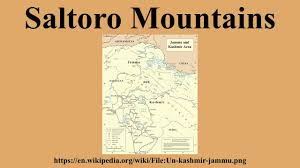 Karakoram Range Map Saltoro Mountains Youtube