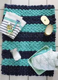 Navy Blue Bathroom Rug Set by Chunky Woven Bath Mat Diy U2013 A Beautiful Mess
