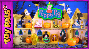 peppa pig u0027s halloween haunted house surprise toys video pumpkins