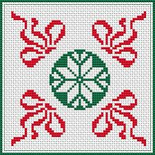 biscornu free cross stitch pattern treasures