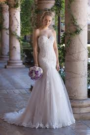 style 4035 corded lace and tulle mermaid gown with sweetheart