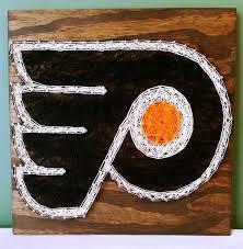 philadelphia flyers string art sign hockey made to order