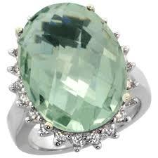 large amethyst diamond white gold women u0027s right hand rings amethyst sears