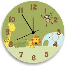 animal safari wooden wall clock for boys bedroom nursery wall decor