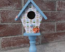 birdhouse on stand etsy