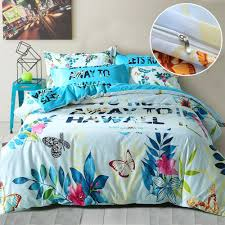 Tropical Comforter Sets King Summer Hawaii Hawall Duvet Cover Pillow Cases Reversible