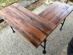 Oak Table L Rustic Reclaimed Barn Wood L Desk Table Solid Oak W