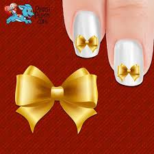 gold bow nail art decals now 50 more free u2013 patch puppy
