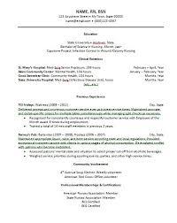Sample Resume Rn by New Registered Nurse Resume Sample Sample Of New Grad Nursing