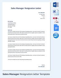 30 letter of resignation template free download