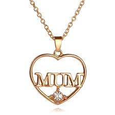 s day pendants s day gift heart pendant 18k real gold plated