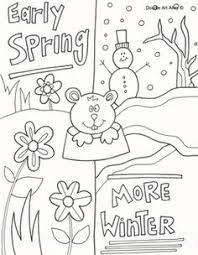 groundhog crafts print groundhog template