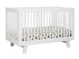 babyletto hudson 3 in 1 convertible crib with toddler rail white