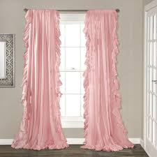 Ruffled Pink Curtains Pink Ruffled Curtains Qs