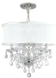 Chandelier Lamp Shades With Crystals White Chandelier With Shades U2013 Eimat Co