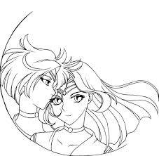 sailor neptune coloring pages sailor uranus and neptune coloring