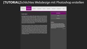 website design erstellen tutorial schlichtes webdesign mit photoshop erstellen