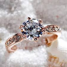 color wedding rings images 1pcs sell zircon engagement rings for women rose gold color jpg
