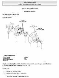 kia service repair manuals pdf free downloads