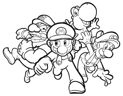 mario brothers coloring free printable mario coloring pages