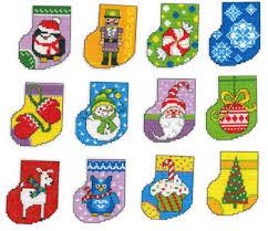 imaginating dozen dandy ornaments cross stitch pattern