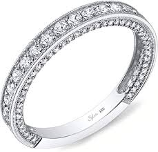 milgrain wedding band sylvie pave milgrain diamond wedding band sy199b
