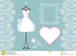 wedding dress in frame vector stock photo image 30549660