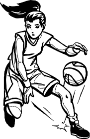 player playing basketball coloring page wecoloringpage