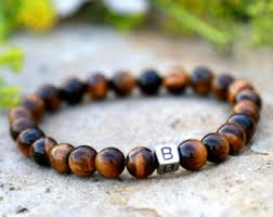 Mens Personalized Jewelry Men Initial Bracelet Etsy