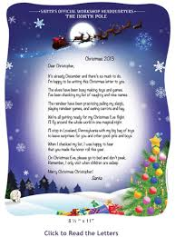 personalized letter from santa letters to and from santa birthday keepsakes