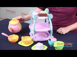 Fisher Price Servin Surprises Kitchen Table by Servin U0027 Surprises Tea Party Set From Fisher Price Youtube