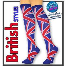 Guadalupe Flag Women U0027s British Flag Knee Socks U2013 Tonsofsocks