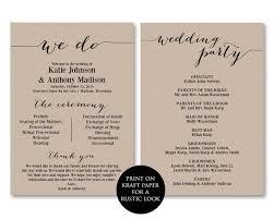 ceremony programs wedding ceremony programs wedding programs we do by modernsoiree on zibbet