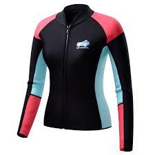 womens motorcycle clothing amazon com lemorecn women u0027s 1 5mm wetsuits jacket long sleeve