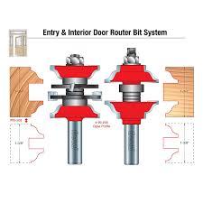 freud 2 piece entry u0026 interior door router bit set ogee profile