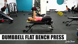 Flat Bench Dumbbell Dumbbell Flat Bench Press Youtube
