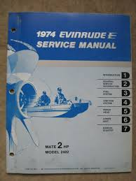 1974 evinrude 2 hp outboard boat motor service repair manual model