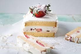 strawberries and cream ice cream cake a night owl blog