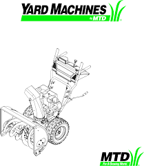 yard machines snow blower e610e user guide manualsonline com