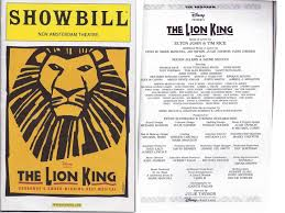 lion king template remembrances of performances past playbills and memories from a