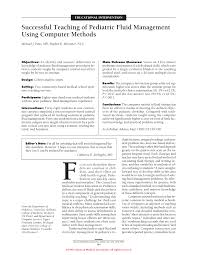 successful teaching of pediatric fluid management using computer
