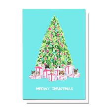 meowy christmas meowy christmas card henson