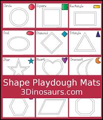Free Printable Shape Playdough Mats   free shape playdough mats 3 dinosaurs
