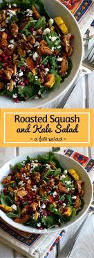 roasted squash and kale salad recipe fall salad roasted